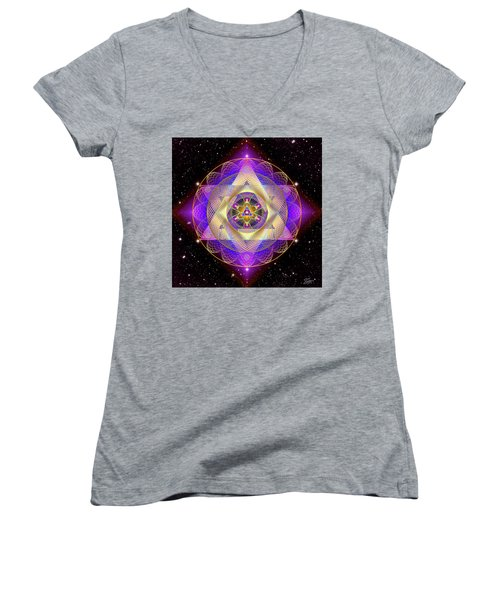Sacred Geometry 741 Women's V-Neck