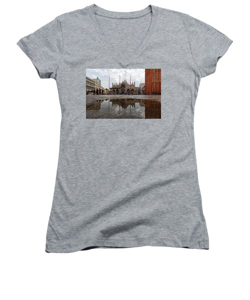 San Marco Cathedral Venice Italy Women's V-Neck