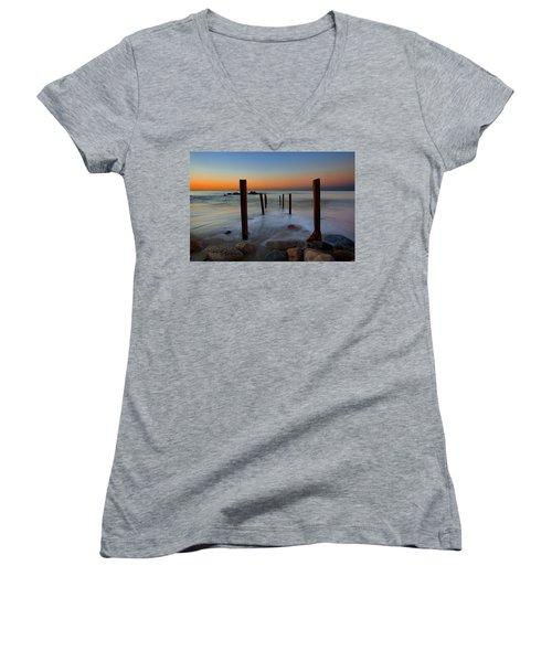 Santa Monica Sunrise Women's V-Neck