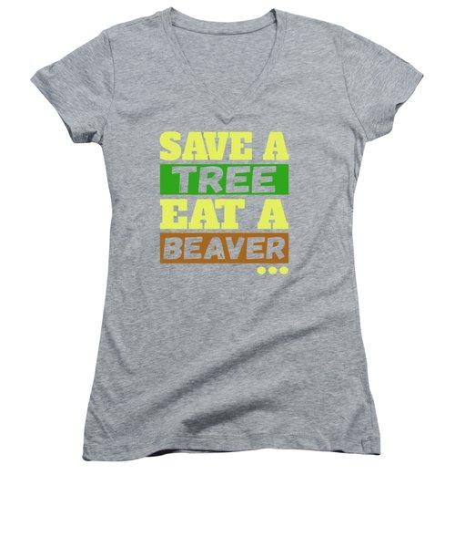 Save A Tree Women's V-Neck