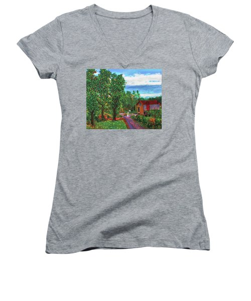 Scene From Giverny Women's V-Neck
