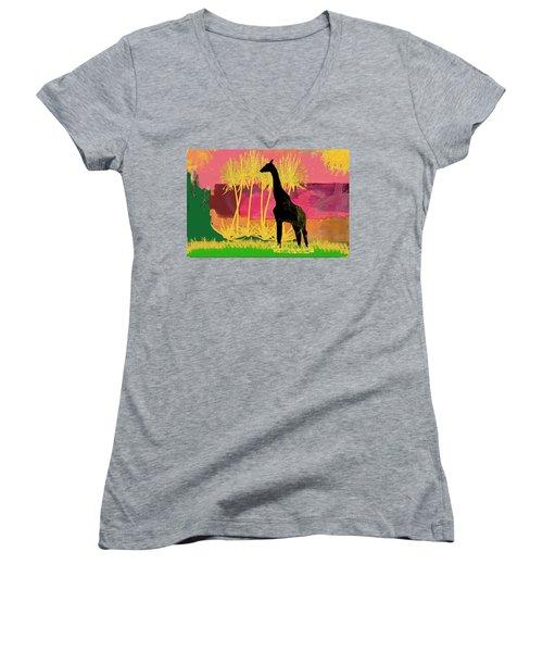 Serengeti Desert Women's V-Neck