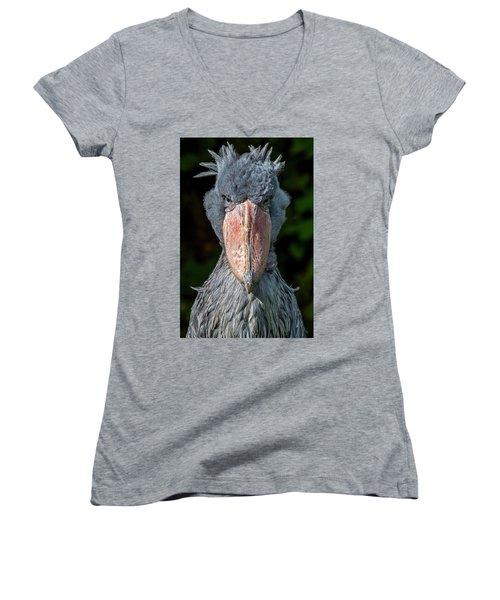 Shoe-billed Stork Women's V-Neck