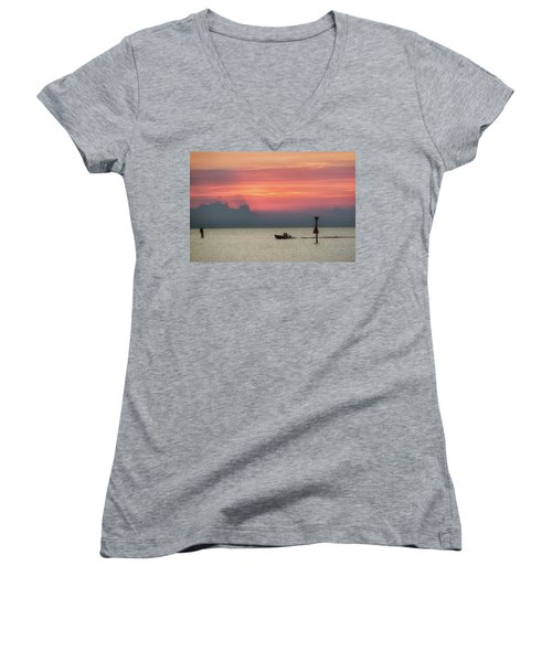 Silhouette's Sailing Into Sunset Women's V-Neck