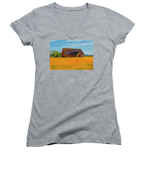 Skagit Valley Barn #9 Women's V-Neck