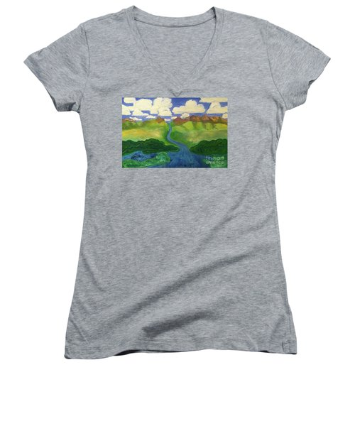Sky River To Sea Women's V-Neck