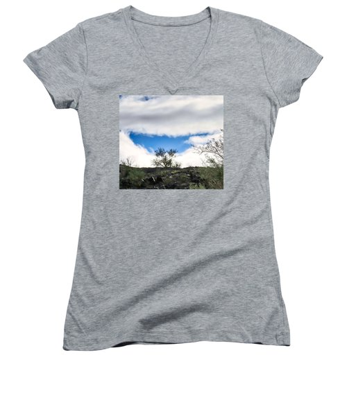 Women's V-Neck (Athletic Fit) featuring the photograph Smile by Judy Kennedy