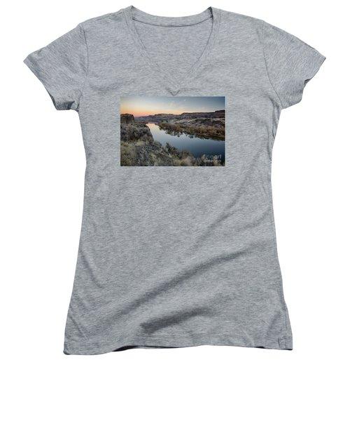 Snake River Dawn Women's V-Neck