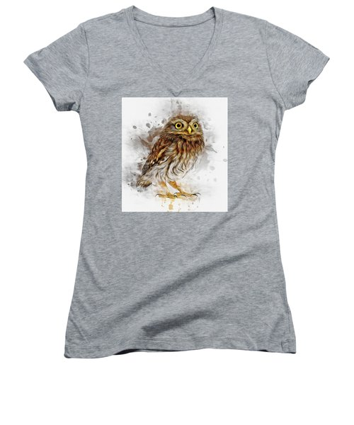 Snow Owl Women's V-Neck