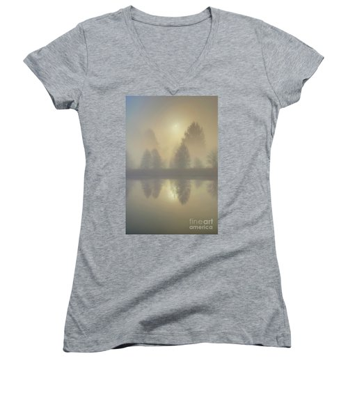 Softly Comes The Sun Women's V-Neck