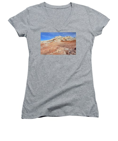 Solid Waves Pano Women's V-Neck