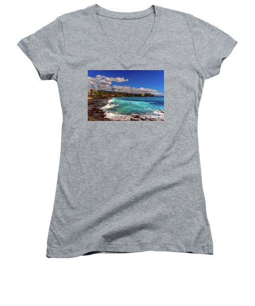 Southern View Of The Shore Women's V-Neck