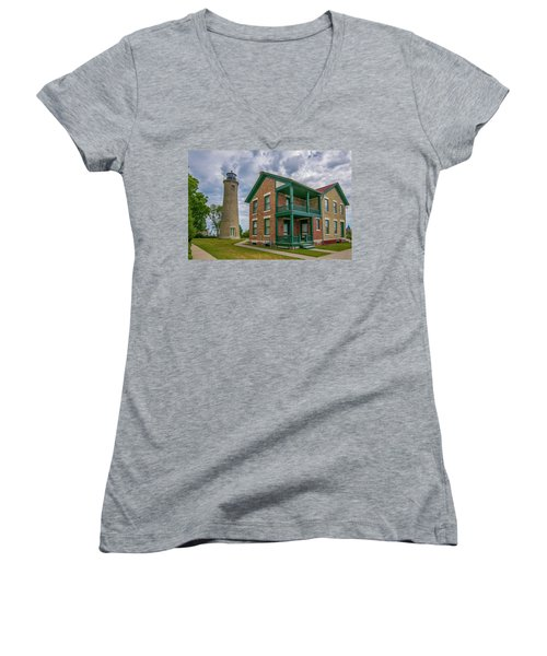 Southport Lighthouse  Women's V-Neck