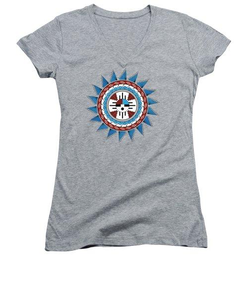 Southwest Native American Art Mandala Women's V-Neck