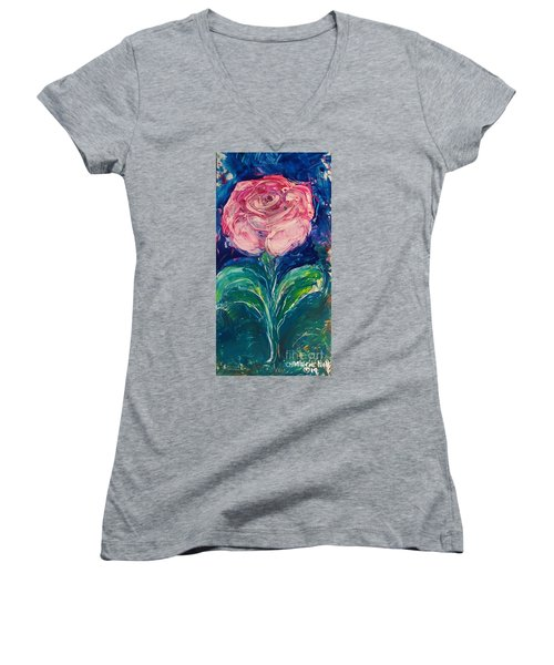 Standing Rose Women's V-Neck