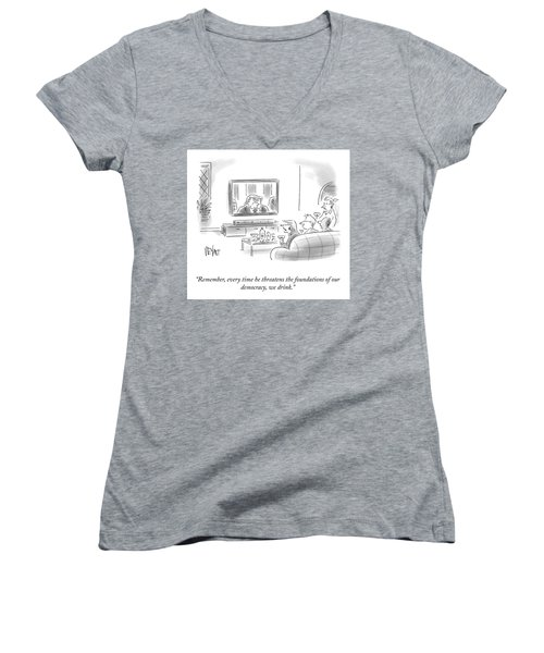 State Of The Union Drinking Game Women's V-Neck
