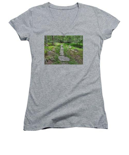 Stepping Stone Path - Kinnelon Women's V-Neck