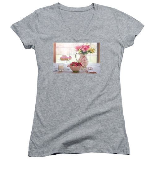 Strawberry Breakfast Women's V-Neck