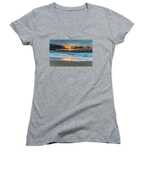 Sun Glow Seascape Women's V-Neck