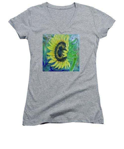 Sunflower Smiles Women's V-Neck