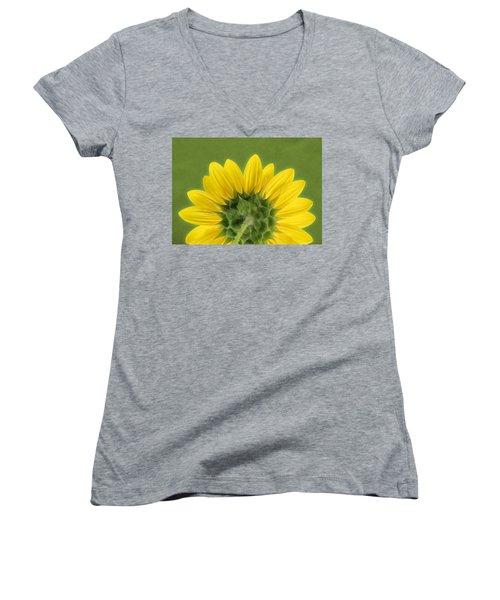 Sunflower Sunrise - Botanical Art Women's V-Neck