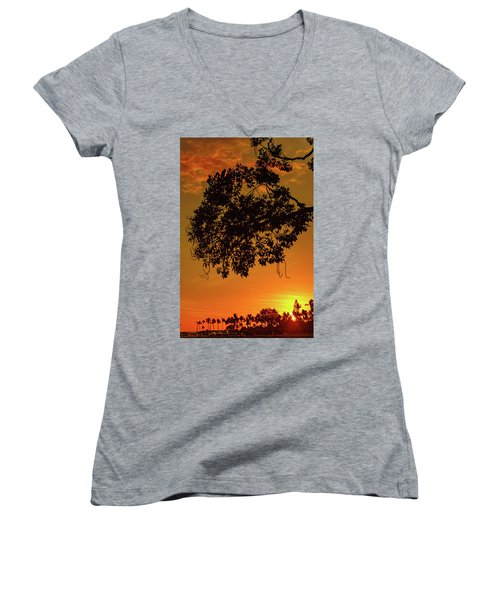 Sunset By The Pier Women's V-Neck