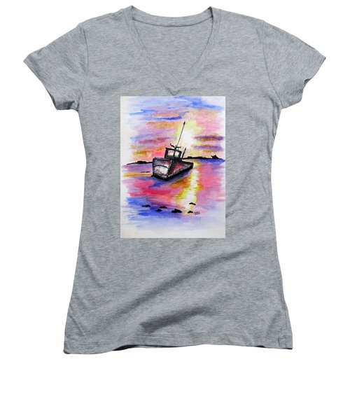 Sunset Rest Women's V-Neck
