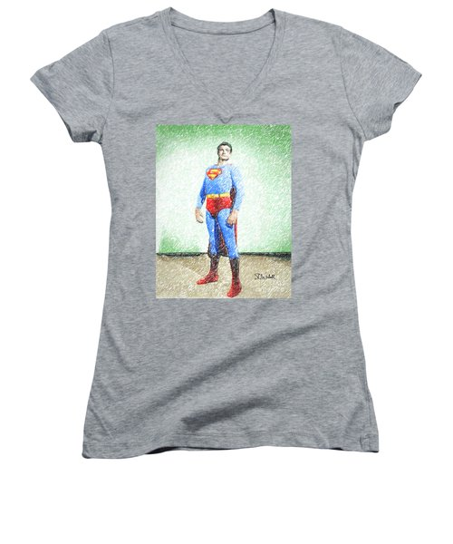 Superman Women's V-Neck
