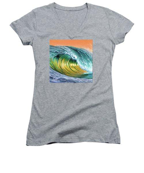 Surf Into The Sunset Women's V-Neck