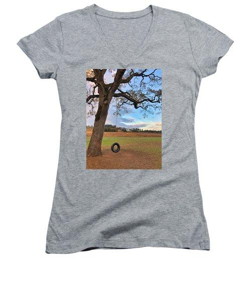Swing In Tree Women's V-Neck