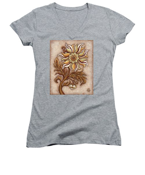 Tapestry Flower 1 Women's V-Neck