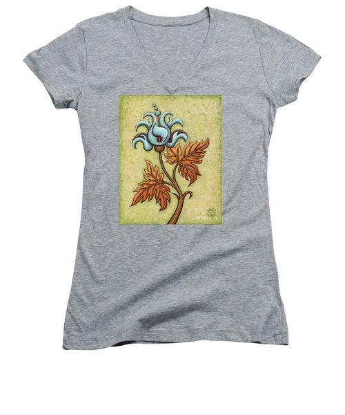 Tapestry Flower 2 Women's V-Neck
