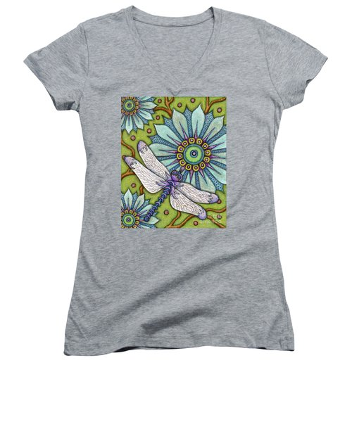 Tapestry Dragonfly Women's V-Neck