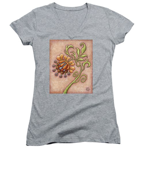 Tapestry Flower 10 Women's V-Neck