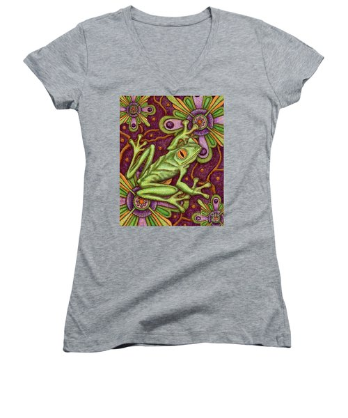 Tapestry Frog Women's V-Neck