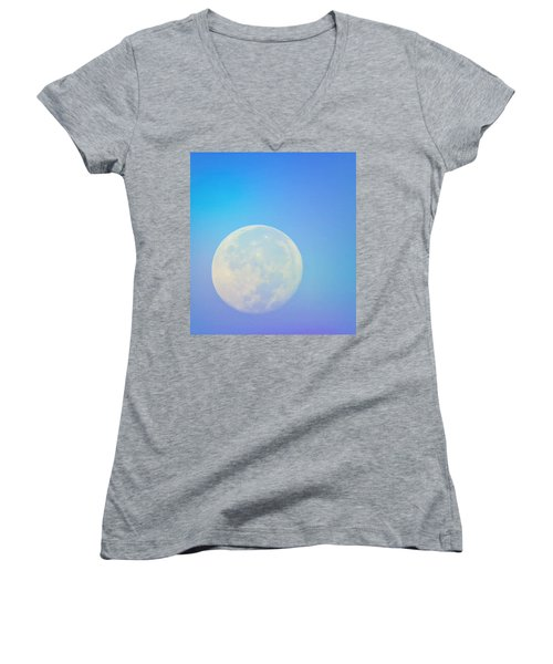 Taurus Almost Full Moon Blend Women's V-Neck