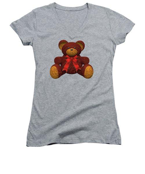 Teddy Bear Women's V-Neck