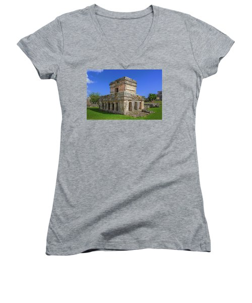 Temple Of The Frescoes Women's V-Neck