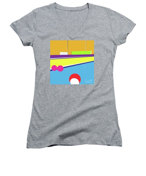 Tennis In Abstraction Women's V-Neck