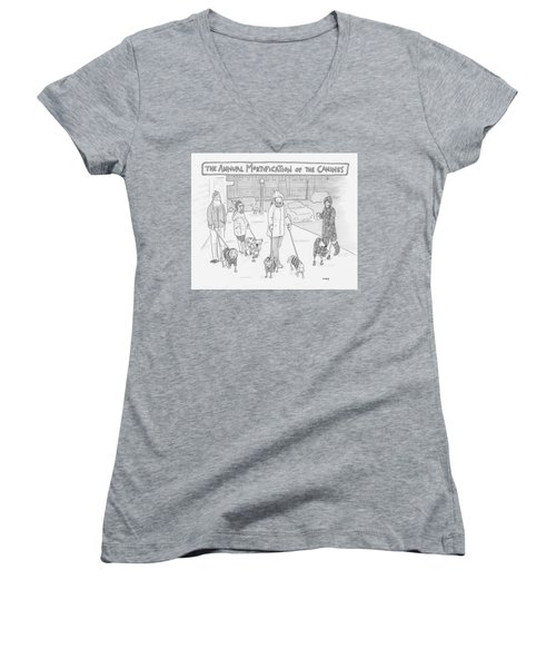 The Annual Mortification Of The Canines Women's V-Neck