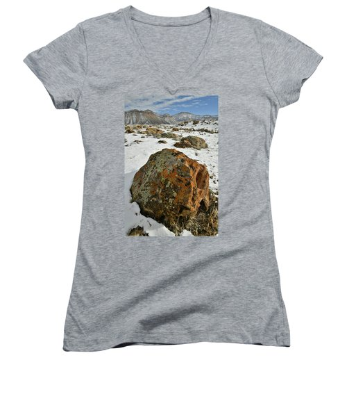 The Book Cliff's Colorful Boulders Women's V-Neck