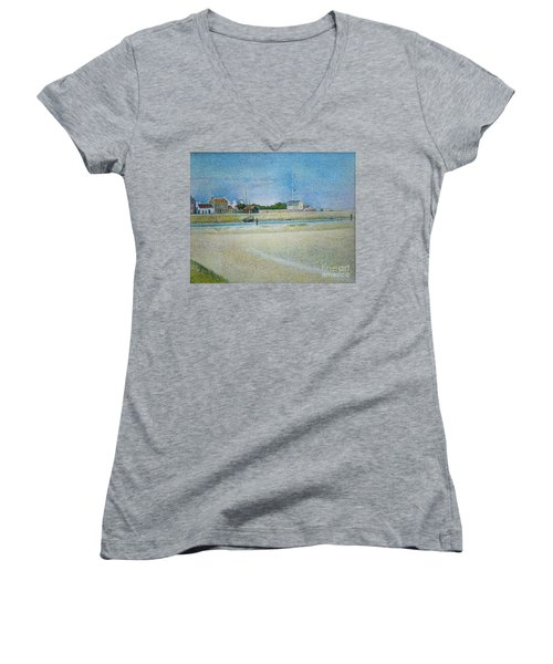 The Channel Of Gravelines Grand Fort Philippe Women's V-Neck