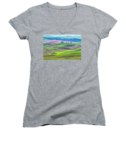 The Color Palette Of The Palouse Women's V-Neck