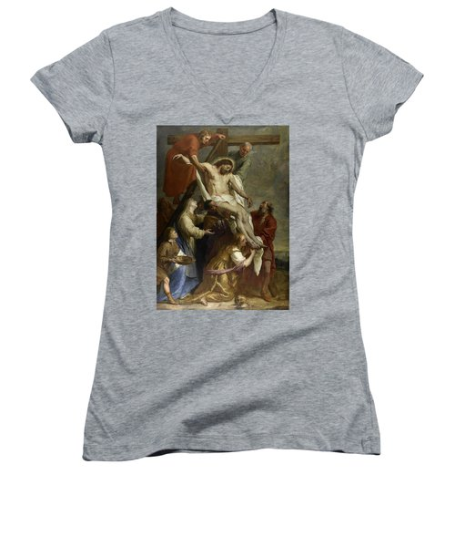 The Descent From The Cross Women's V-Neck