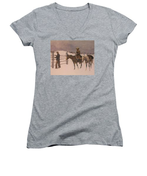 The Fall Of The Cowboy Women's V-Neck
