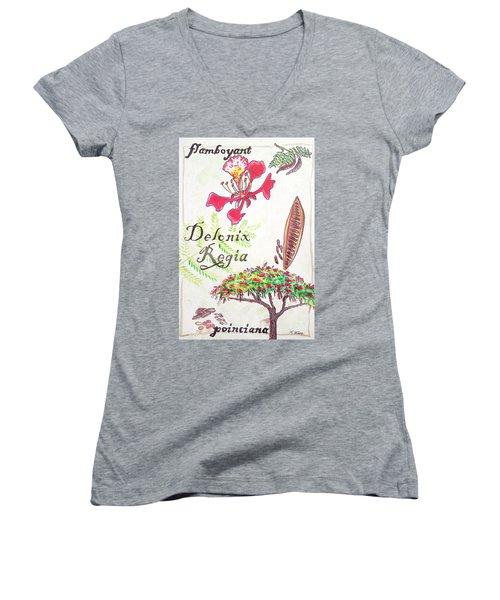 The Flamboyant Tree Women's V-Neck
