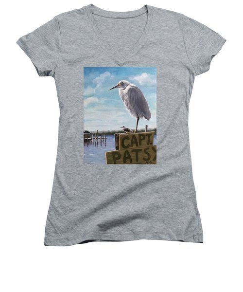 The Guardians - Florida Oil Painting Women's V-Neck