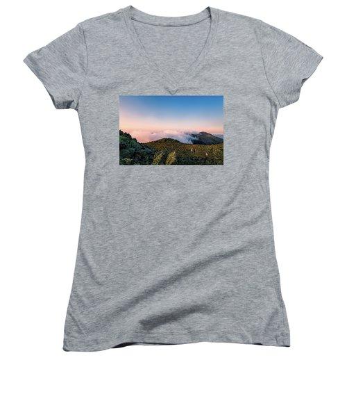 The Hiker - Mt Jefferson, Nh Women's V-Neck