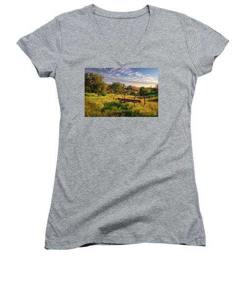 The Old Hay Rake Women's V-Neck