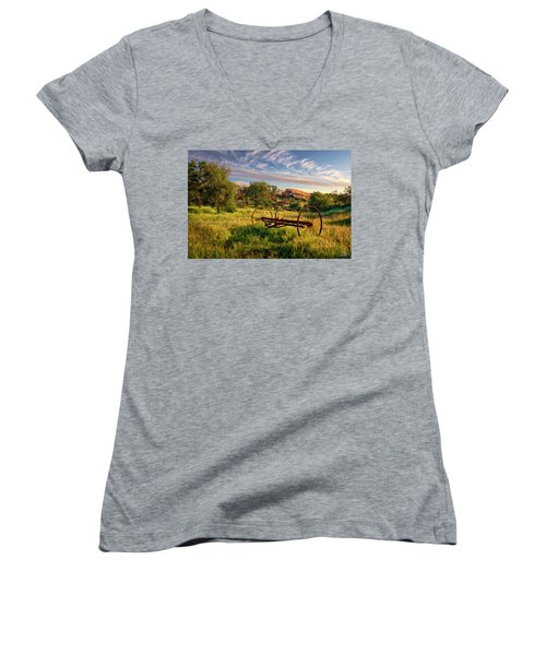 The Old Hay Rake Women's V-Neck